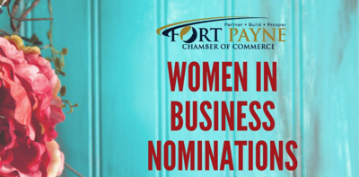 Fort Payne Chamber asking for Women in Business nominations