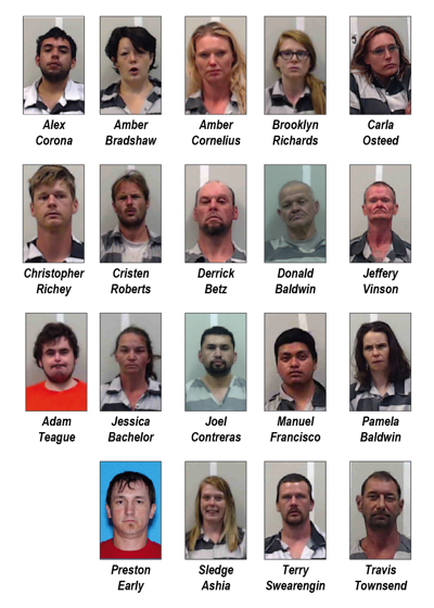 Twenty arrested in Fourth of July week saturation