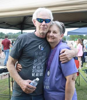 """<p class=""""p1""""><span class=""""s1"""">Kathy said her husband, Ronnie, was by her side through her treatments last year. The two are pictured at the last Relay for Life event.<span class=""""Apple-converted-space""""></span></span></p>"""