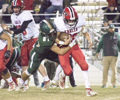 Rams rock Eagles, clinch playoff spot with 55-24 win at home