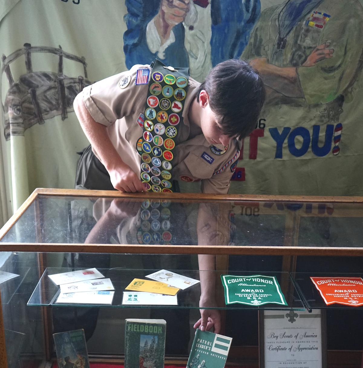 Eagle Scout project results in Hunt Hall exhibit