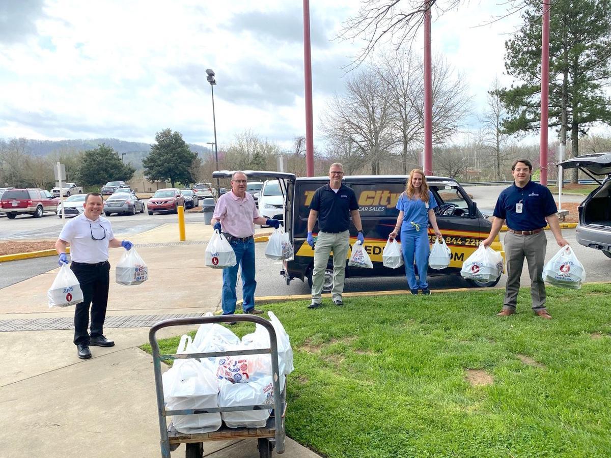 Local businesses provide food for DeKalb Regional workers
