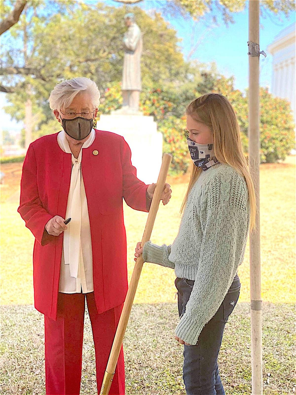 Plainview's Brinley Summerford attends tree planting ceremony at state Capitol