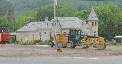 City paving lot at Gault and Fifth Street North