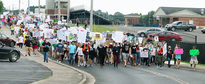 Albertville protesters march peacefully for justice