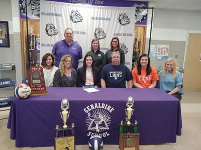 Geraldine's Gary signs with Wallace State for volleyball