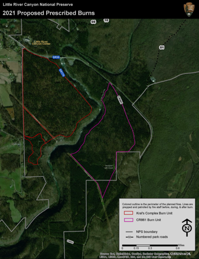 Little River Canyon to conduct prescribed burn