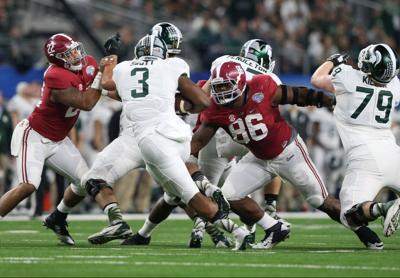 No. 2 Alabama's deep, diverse line pivotal to title game run