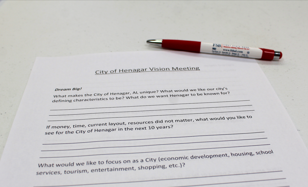 Vision for a city: Henagar hosts ideas meeting for input on city growth