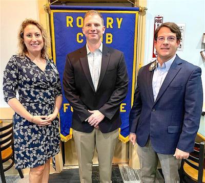 DeKalb Regional's new orthopedic surgeon visits Fort Payne Rotary