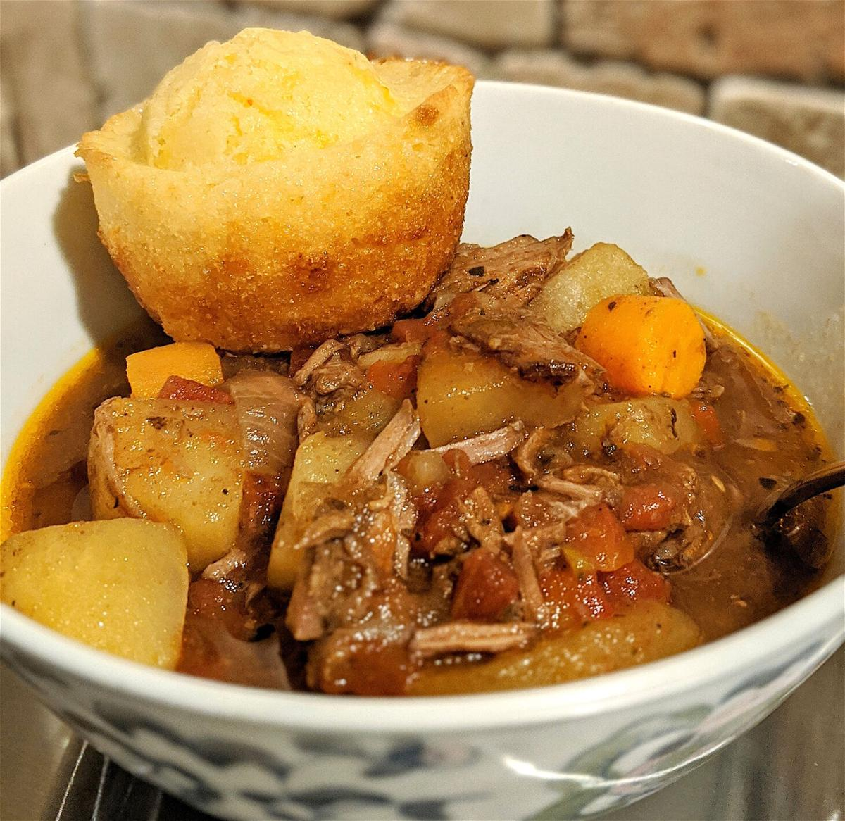 Hearty stew and soup for chilly weather