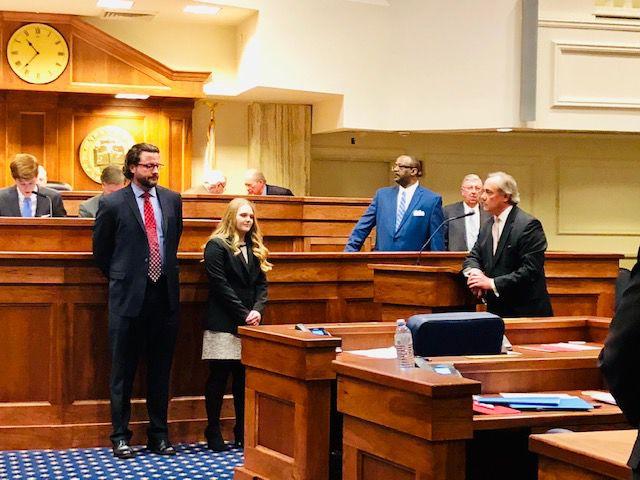 Sen. Livingston honors Grissom student