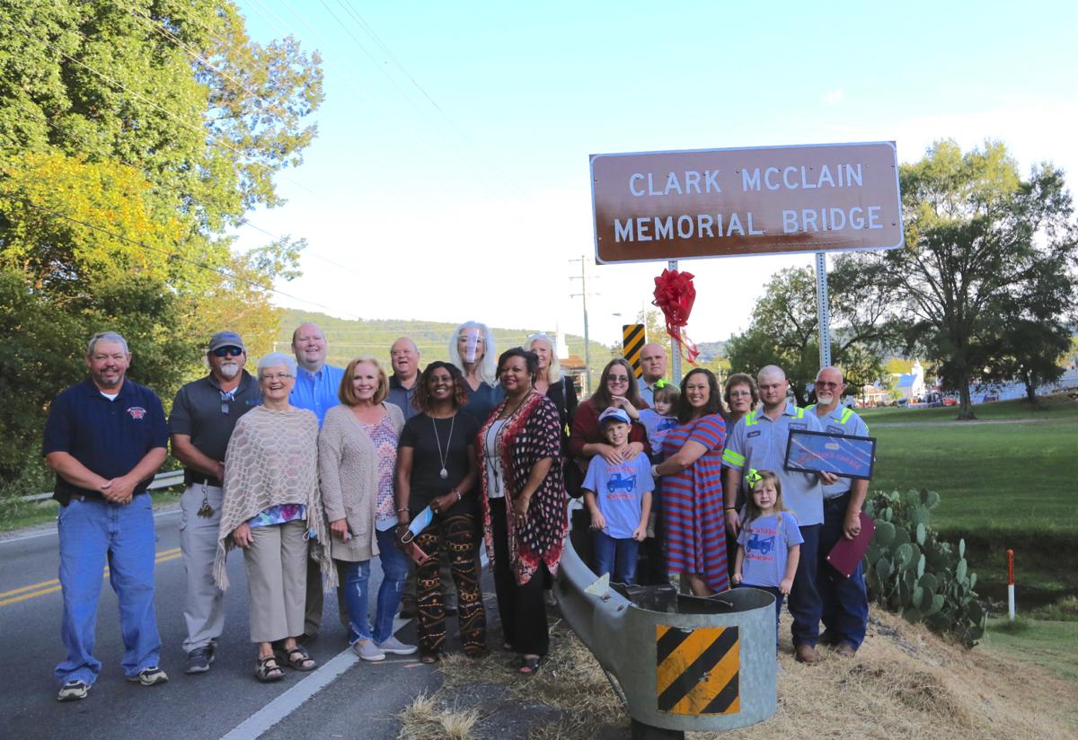 Bridge named in honor of Clark W. McClain