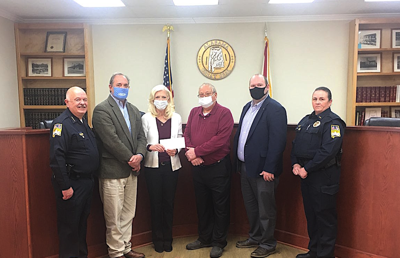Collinsville Police Department receives funds to aid in purchase of new laptops for patrol cars