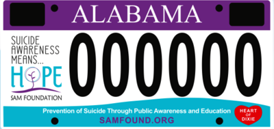 The SAM Foundation still taking preorders for Alabama's only suicide prevention car tag