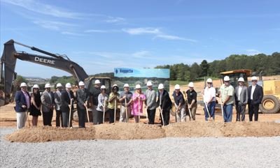 Breaking ground for a new school
