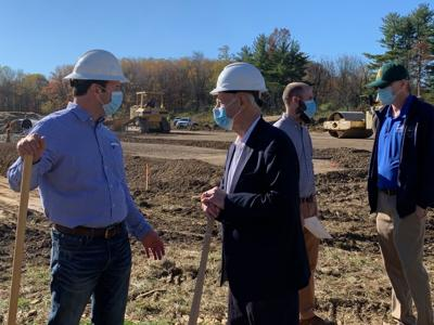 Officials break ground on tech company's new facility in Frostburg