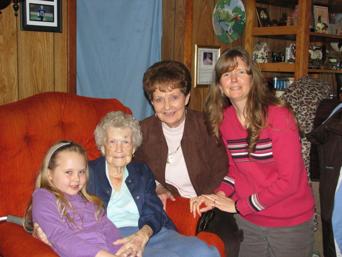 Eckard ladies - four generations