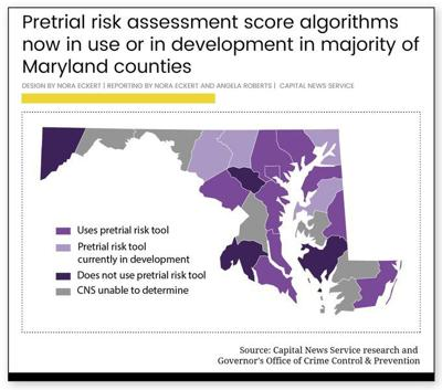 As Maryland courts meld AI into bail decisions, concerns follow
