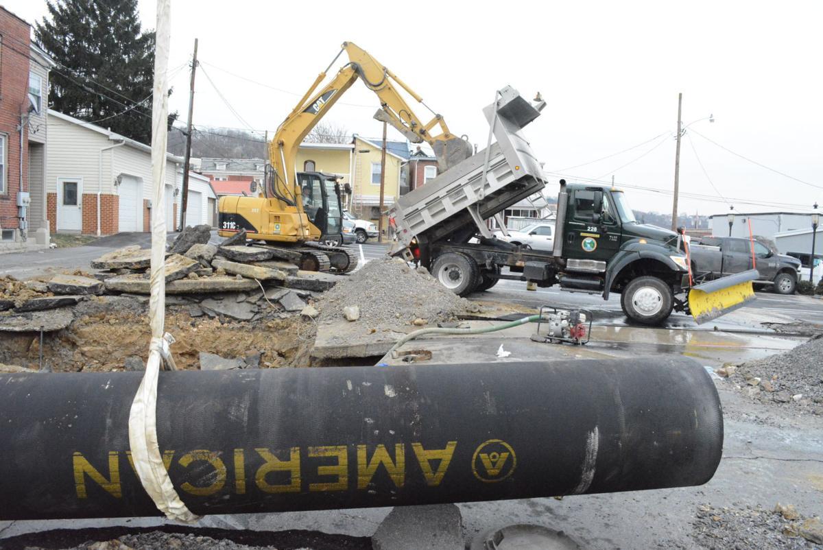 Update broken water main floods city streets news for Queen city motors cumberland md