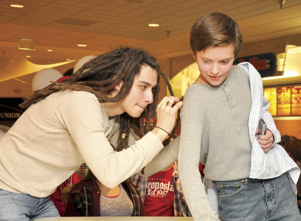 Signing off local news times news former american idol contestant jason castro signs 11 year old stevie fitzgeralds shirt tuesday evening at the meet and greet following a concert at the m4hsunfo