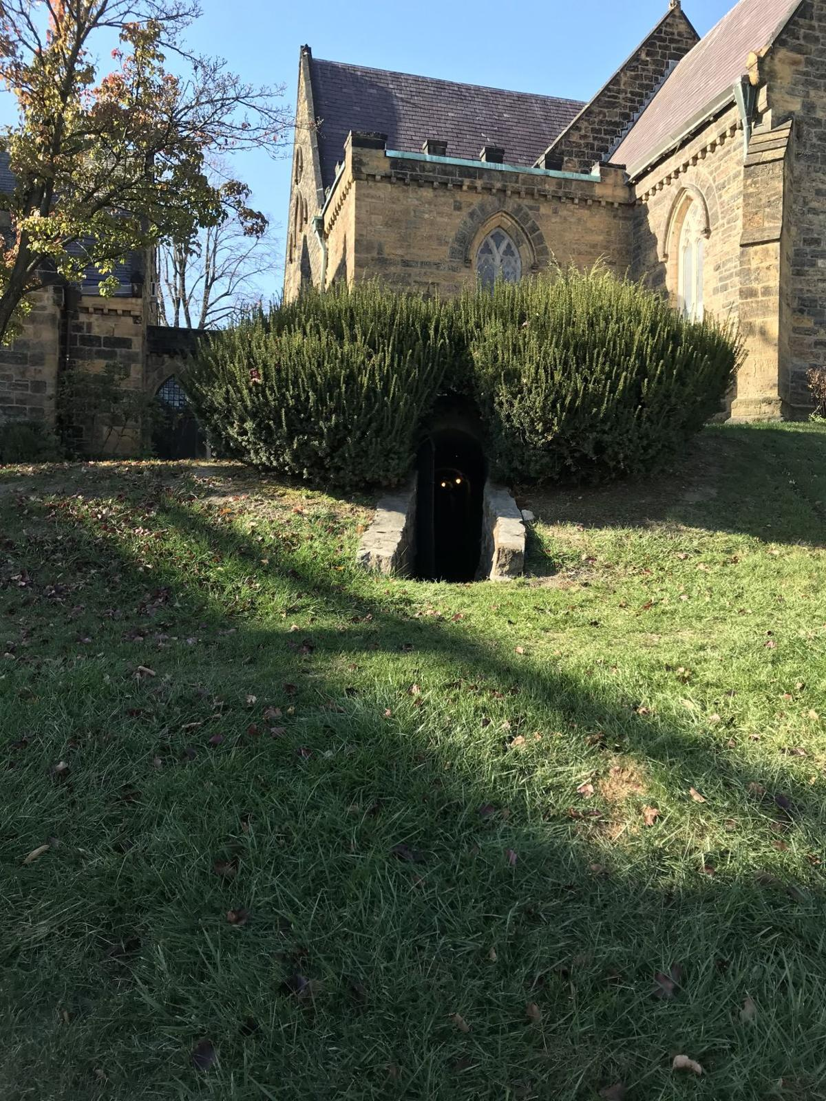Underground Railroad - Emmanuel Parish outside entrance to tunnels