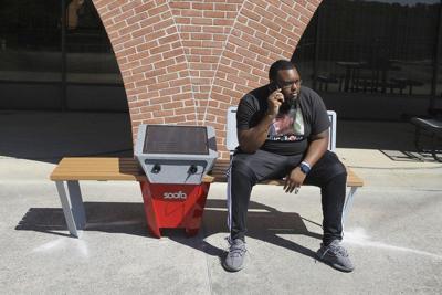FSU installs solar-powered bench on library balcony
