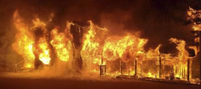 Oakland business property destroyed by fire