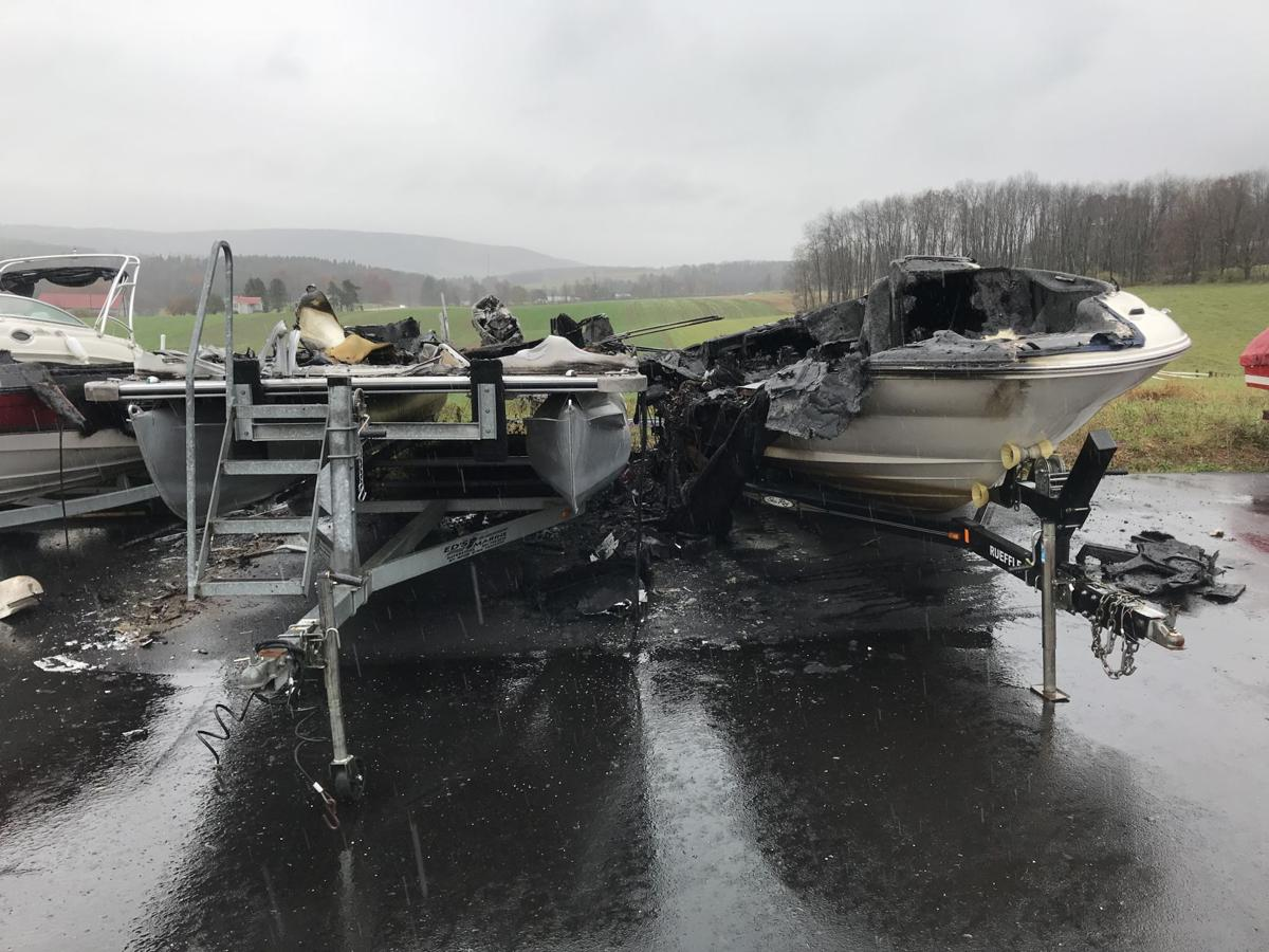Boats destroyed by fire