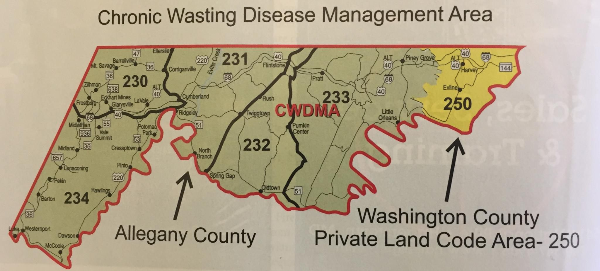 UPDATED Number of deer with chronic wasting