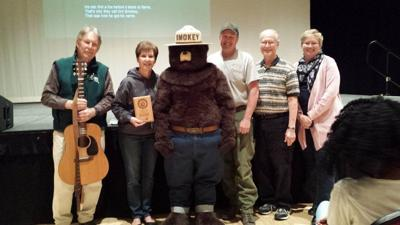 Smokey Bear pays visit to Frostburg State staff
