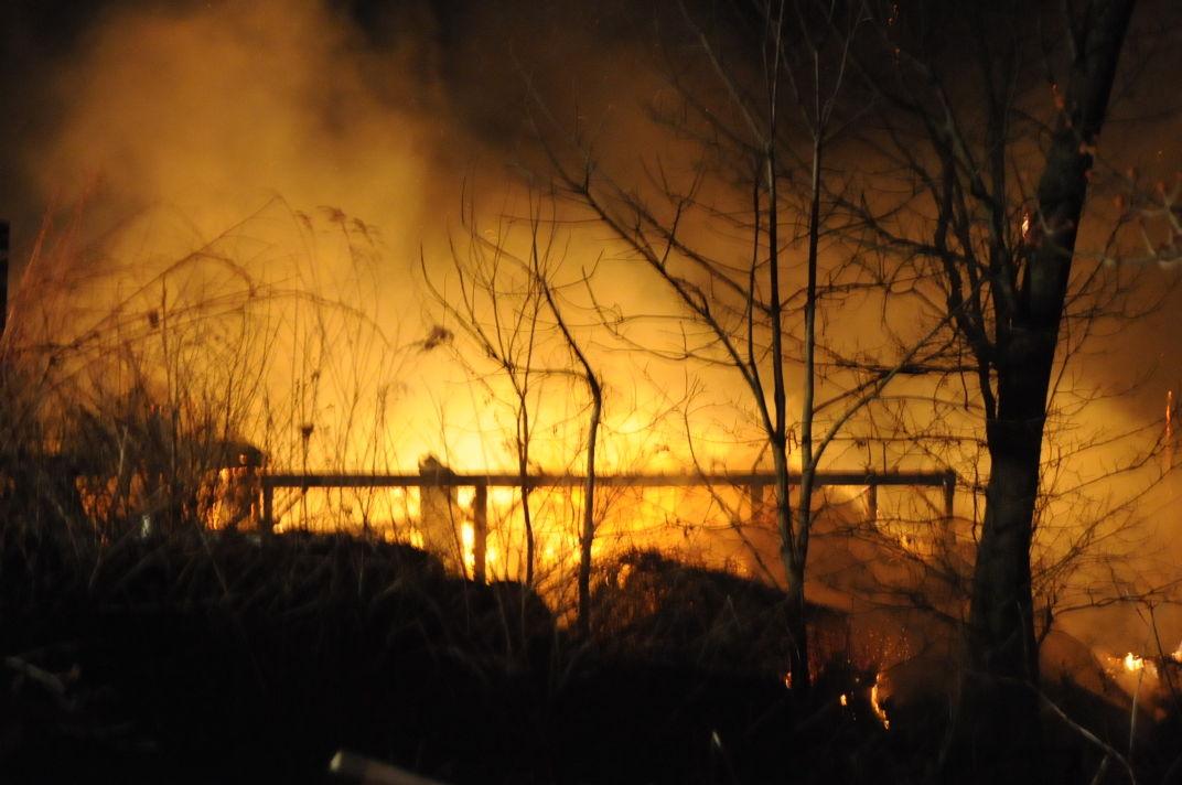 Flintstone barn fire 3-2-16