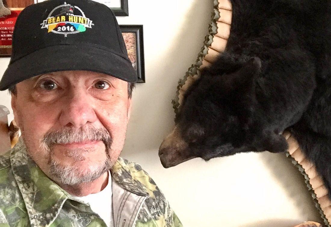 Sawyers in bear hat 2016