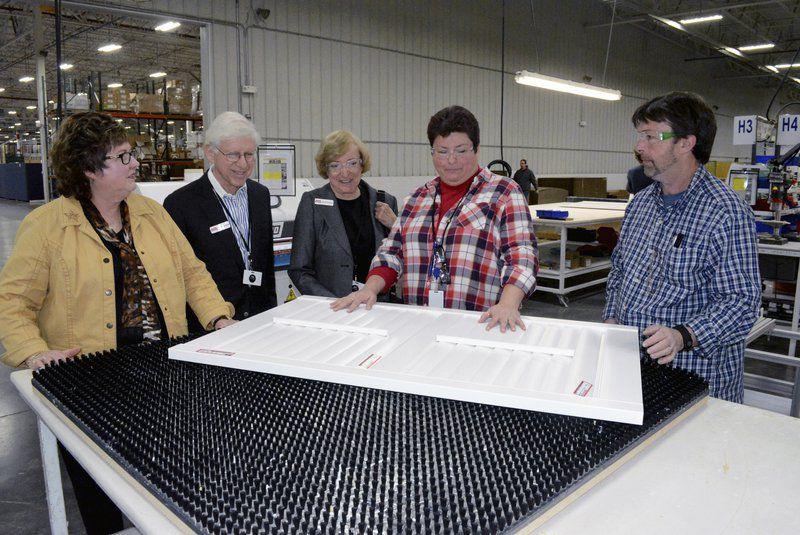 Hoeber on campaign trail, visits local plant