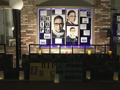 Local vigil honors Ginsburg's legacy