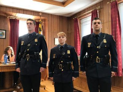Three new police officers sworn in | Local News | times-news com