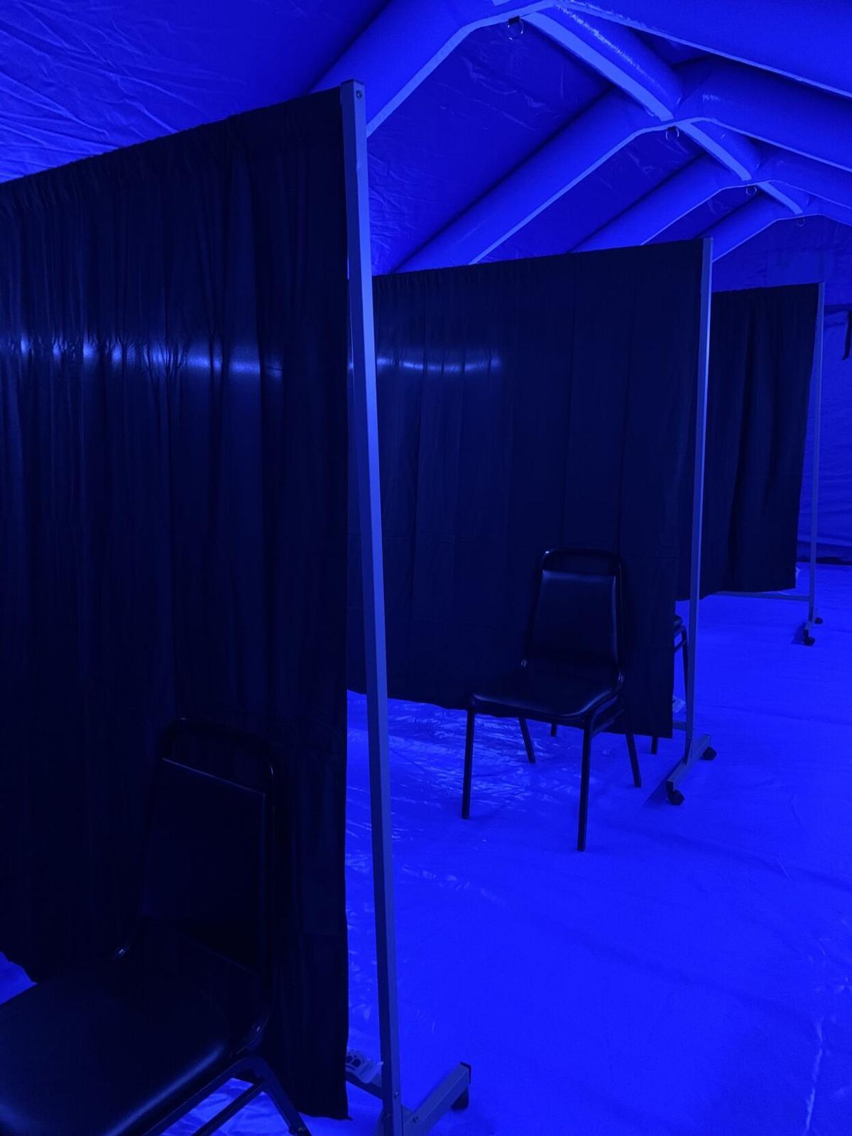 Inside PVH triage tents 9-15-21