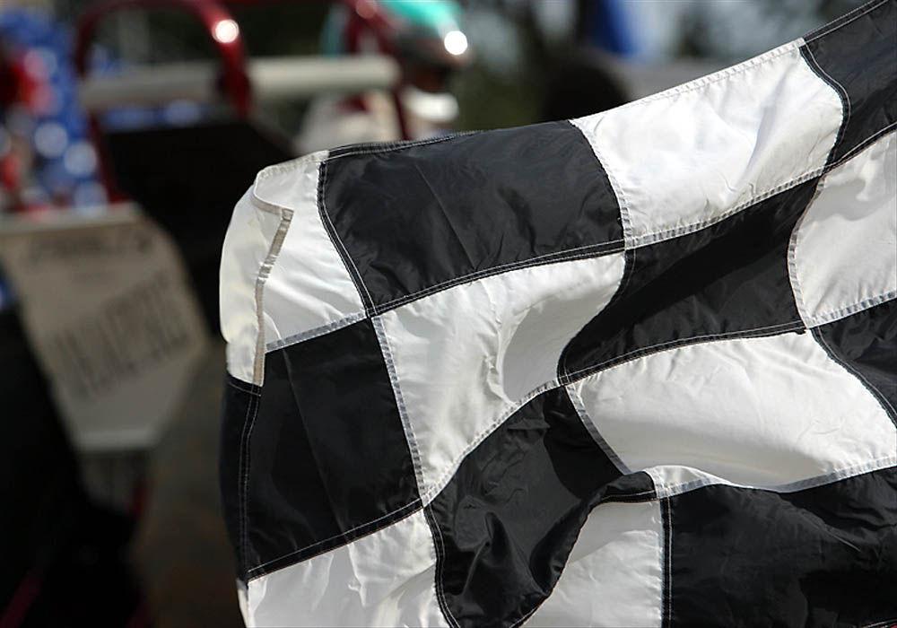 Checkered Flag Auto Race Racing