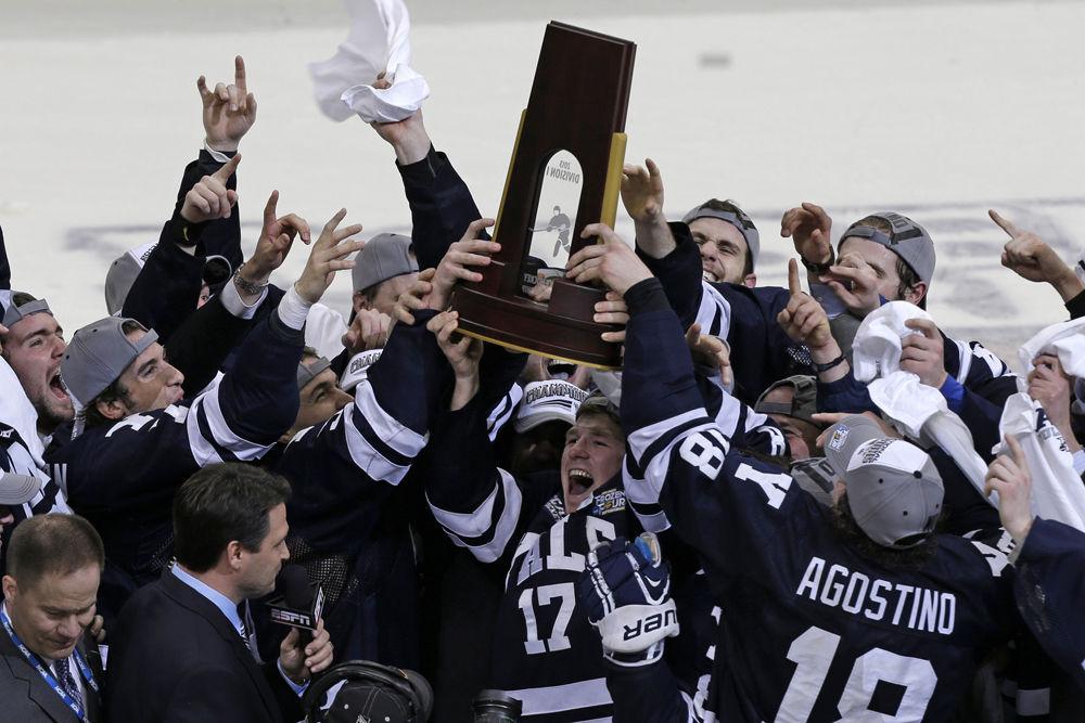 Yale knocks off Quinnipiac 4-0 to win NCAA title