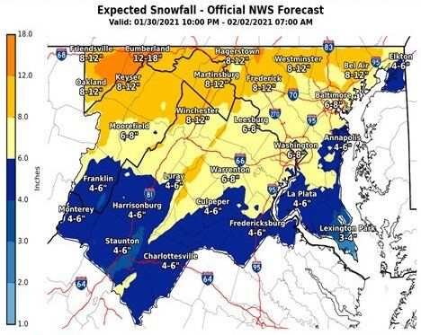 new weather service map