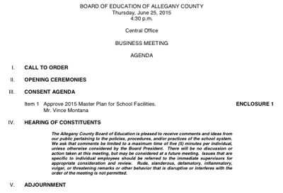 boe to hold special business meeting news