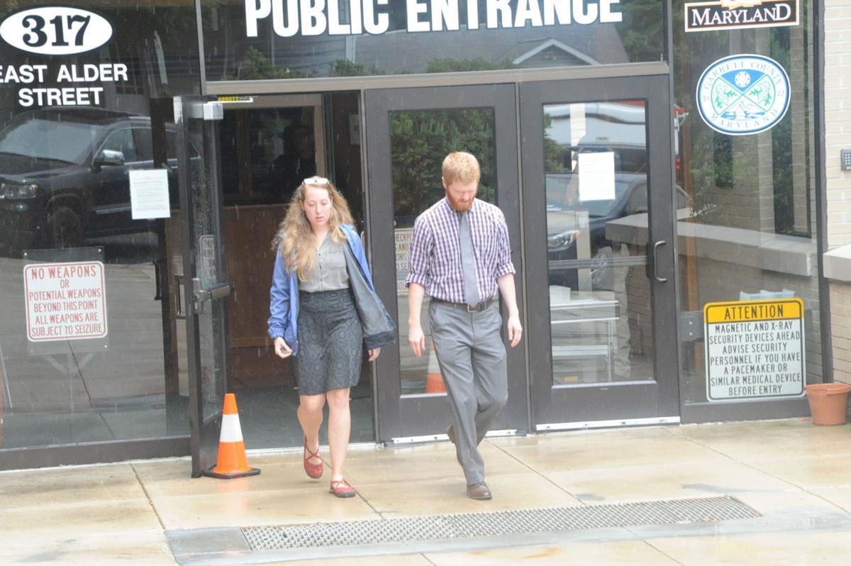 Steven Moon leaves the Shaffer sentencing hearing 7-25-18