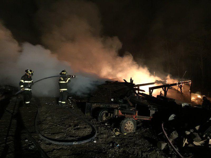 Flintstone barn destroyed by fire 3-2-16