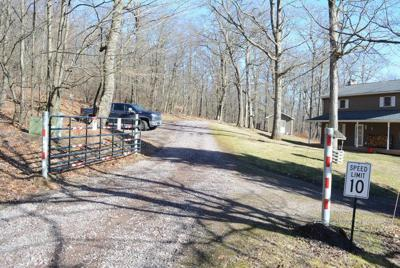 Gate blocks access to Finzel Swamp