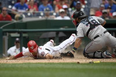 Rendon sparks surging Nats to sweep of Marlins