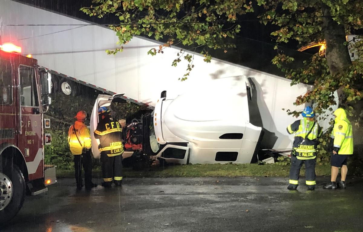 Tractor-trailer accident 10-7-19