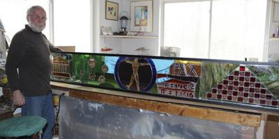 Flintstone artist creates second stained glass window for