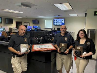 Three 911 dispatchers recognized by Allegany County