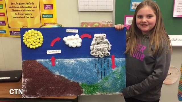 Flintstone third grade students water cycle projects | News ...