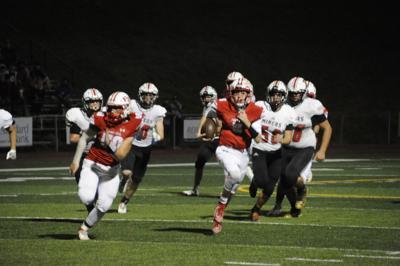 Fort Hill quarterback Bryce Schadt